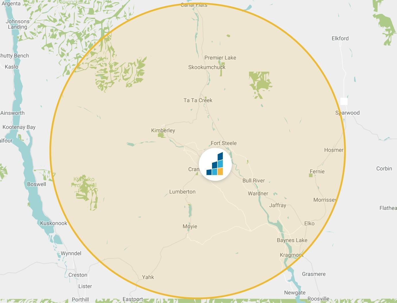Cranbrook's Location Map