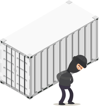 BigSteelBox storage containers are secure from theft