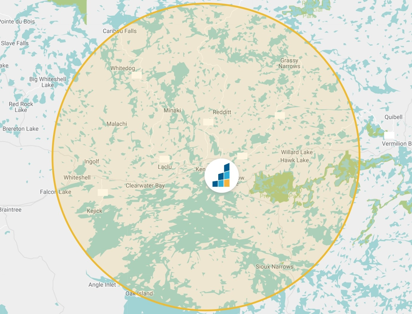 Kenora's Location Map