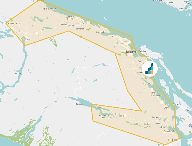Nanaimo's Location Map