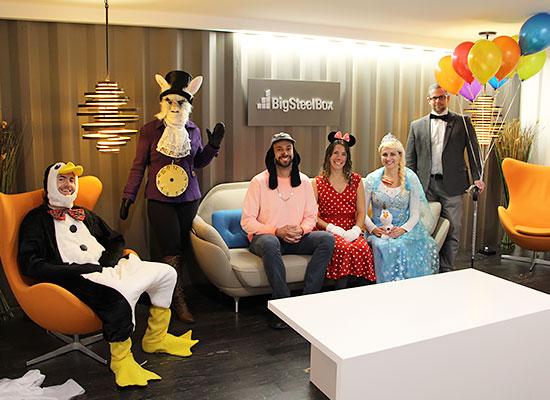 BigSteelBox staff dressed up for Halloween