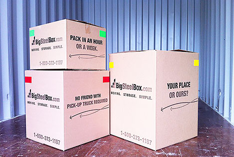 Cardboard moving boxes from BigSteelBox