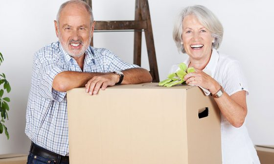 Downsizing couple packing for a move