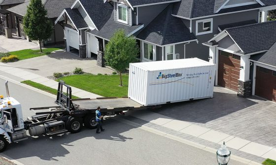 Delivery of a BigSteelBox to a home