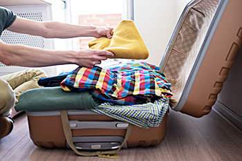 Packing Tip: Use luggage to pack clothing when moving