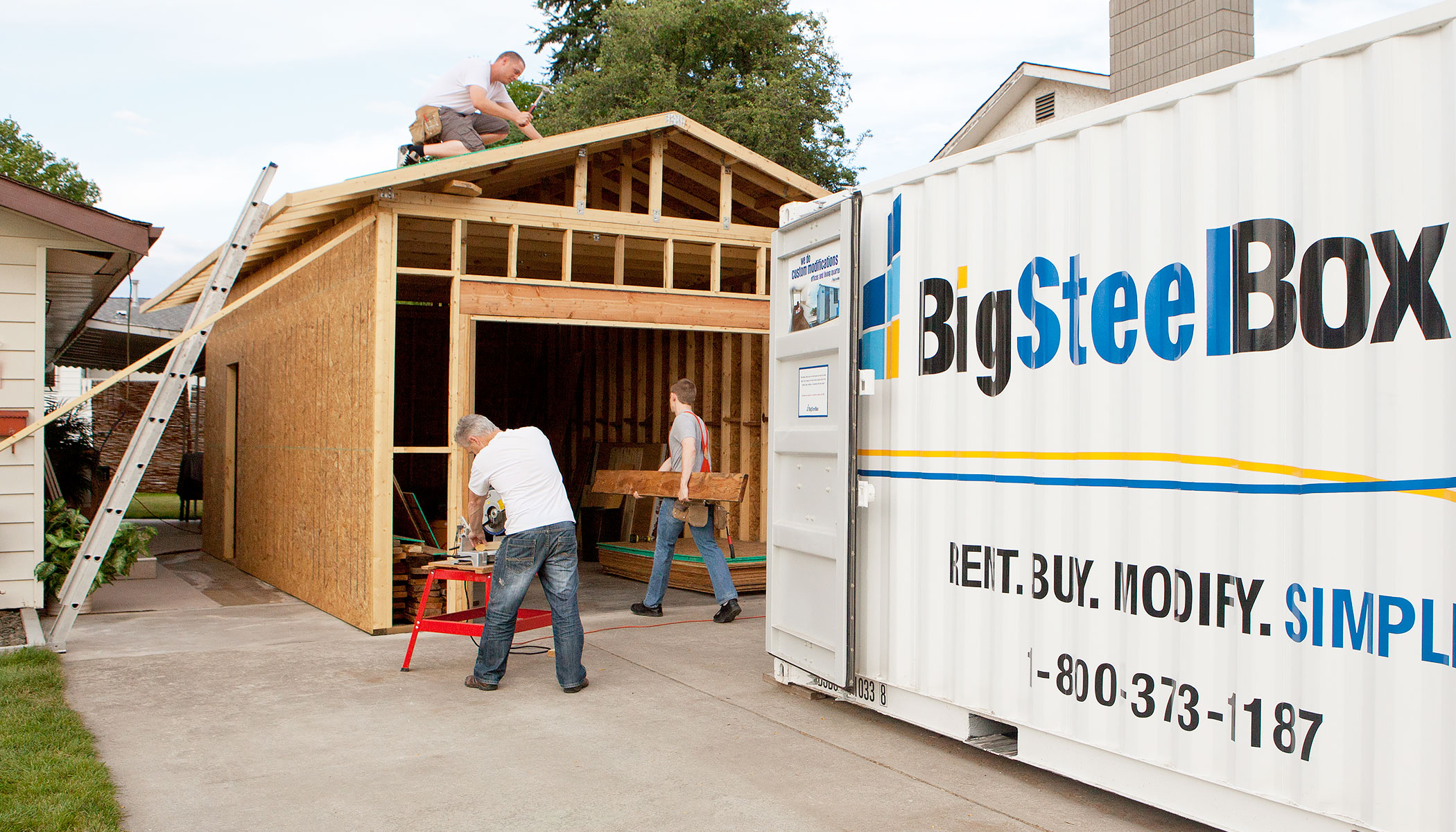 Storage during home renovations - BigSteelBox