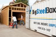 On-site storage during renovations - BigSteelBox