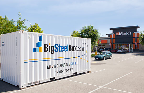 BigSteelBox storage container at retail location