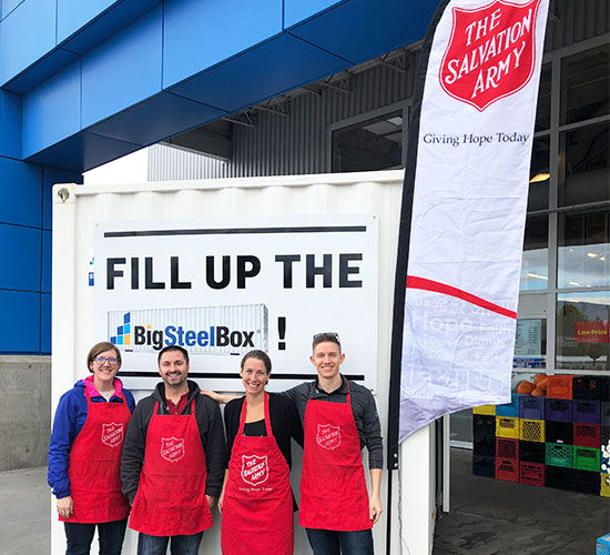 Salvation Army BigSteelBox Food Drive