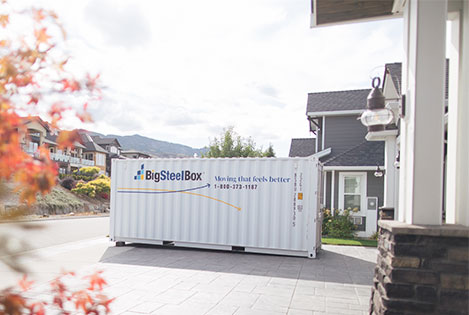 Shipping container for residential storage