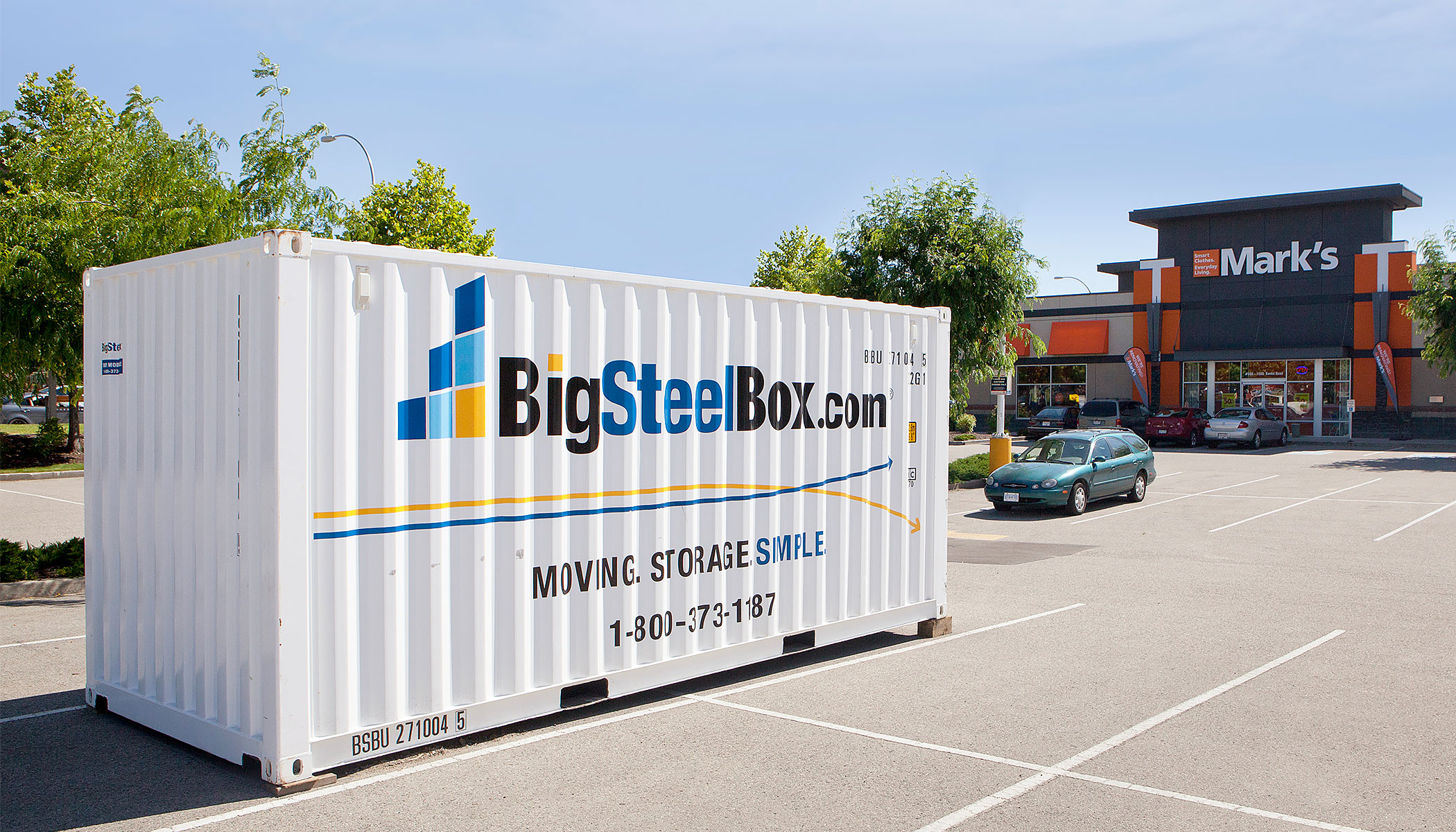 Portable storage for business renovations and seasonal storage - BigSteelBox