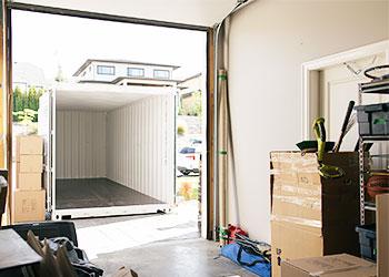 Storage container in driveway - BigSteelBox storage containers