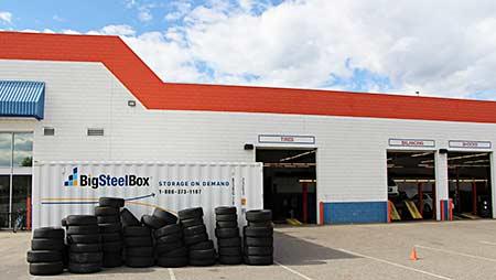 Tire storage - BigSteelBox