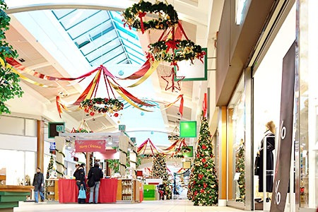 Christmas decorations in a mall - seasonal storage