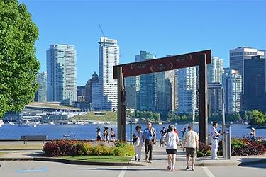 People enjoying downtown Vancouver
