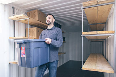 Storage container with shelving - BigSteelBox