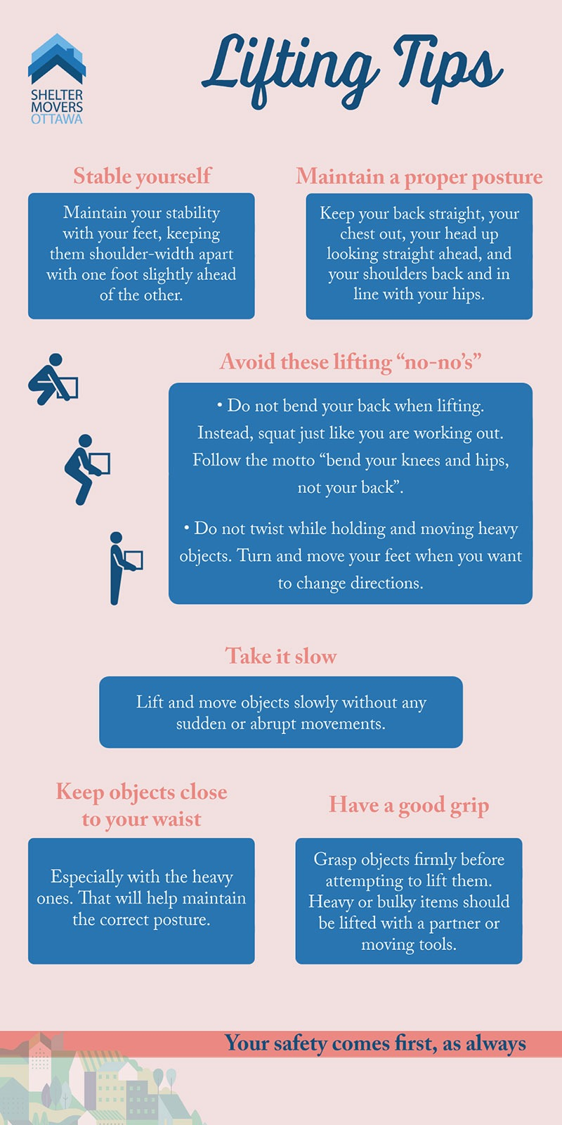 Infographic - Moving and Lifting Tips - Shelter Movers