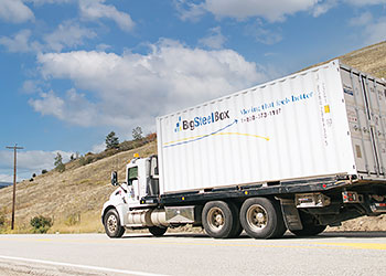 BigSteelBox moving truck - service to cities and rural areas