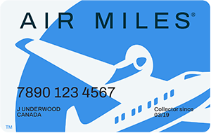 Sample AIR MILES® Collector Card